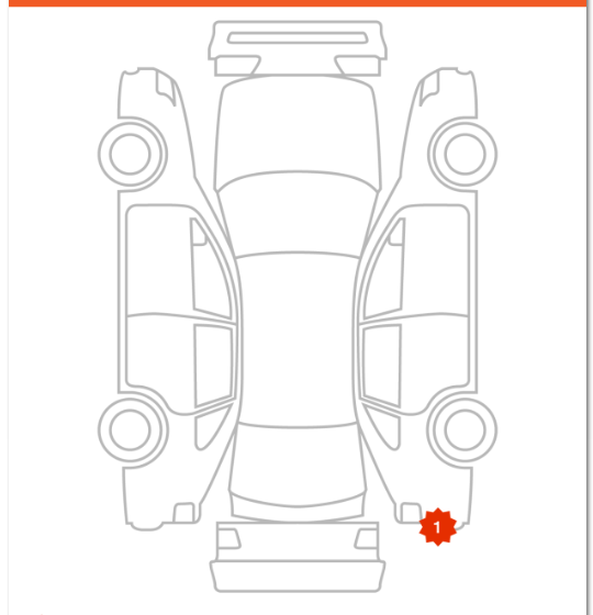 vehicle body damage diagram